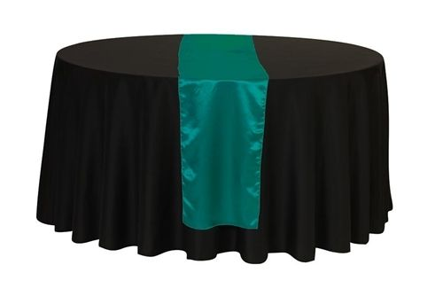 14 x 108 Inch Satin Table Runner Teal Wedding table