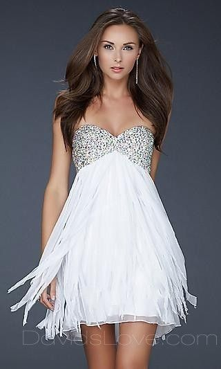 A-Line Sweetheart Short Chiffon Prom Dress ..another bottom idea ...