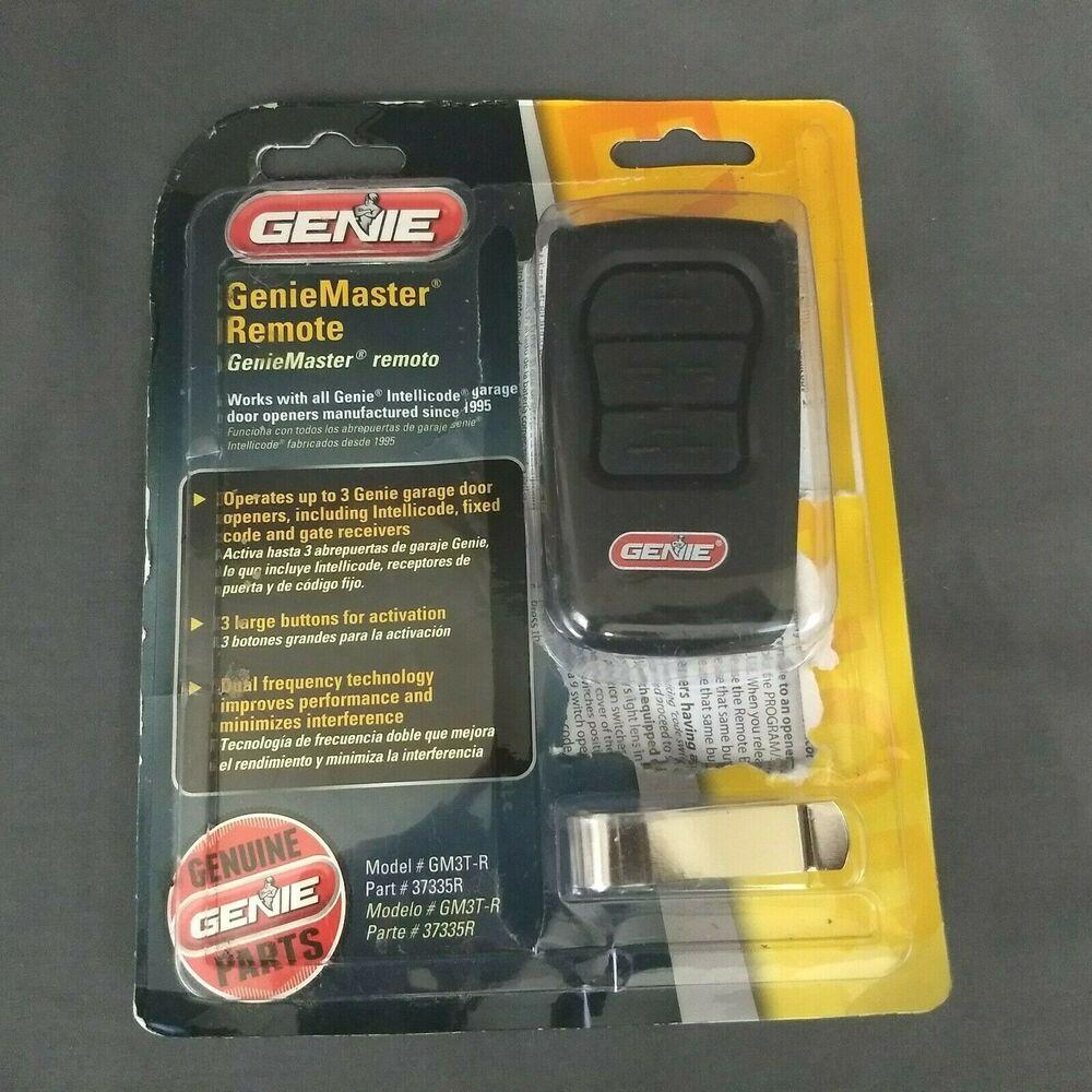 Genie Gm3t R Master Remote 3 Button Geniemaster Intellicode Garage Door Openers Genie Garage Door Opener Remote Garage Door Opener Garage Doors