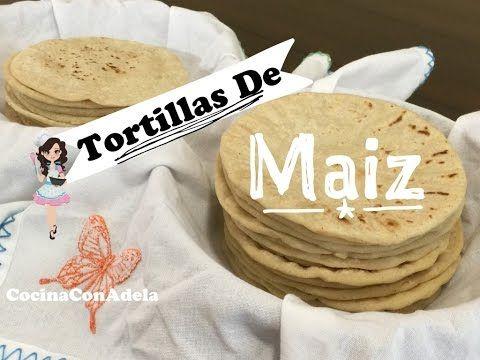 TORTILLAS DE MAIZ HECHAS A MANO | Vicky Receta Facil - YouTube