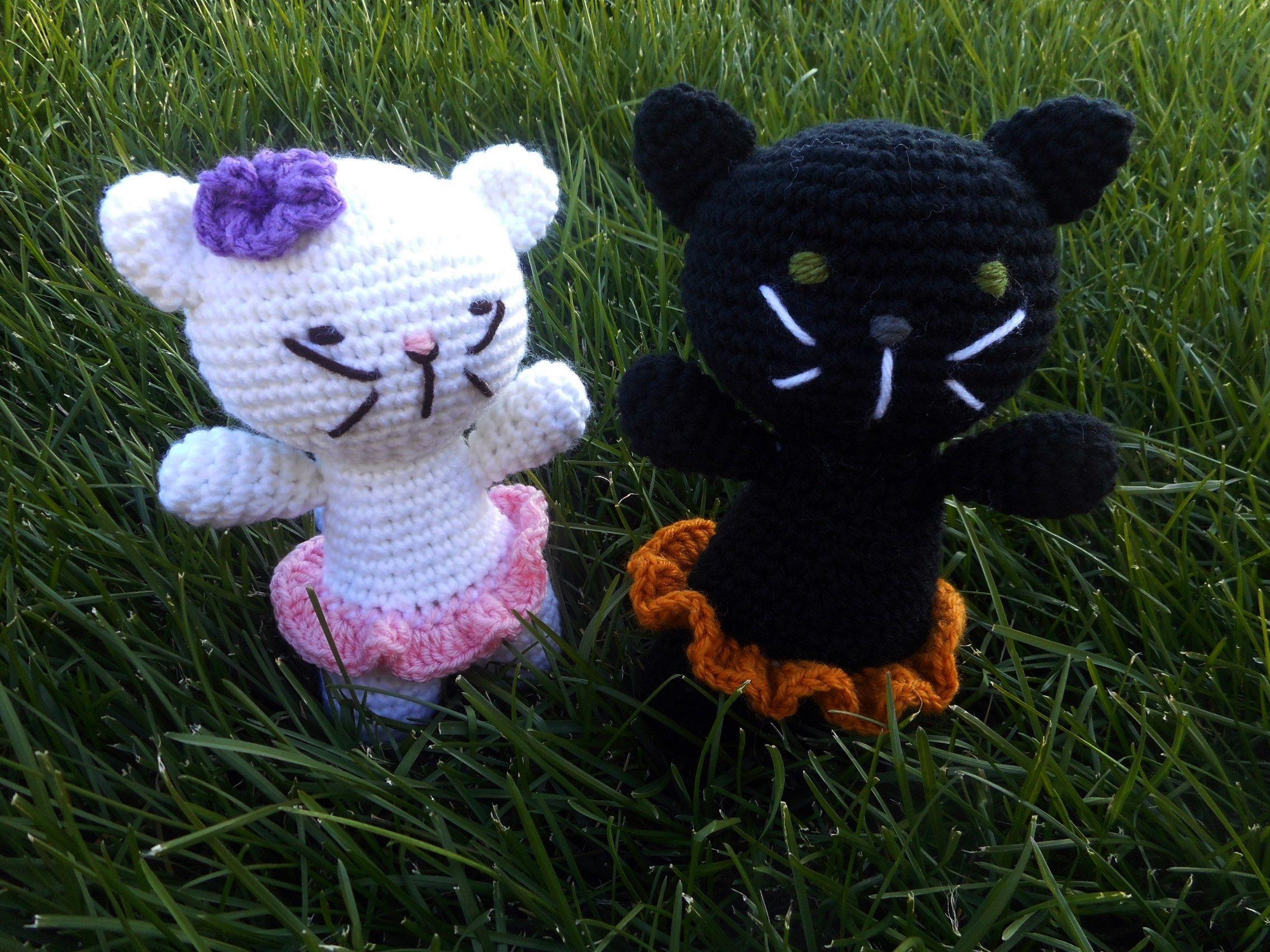 Crochet Cat Toy, Amigurumi, doll,nursery, stuffed animal