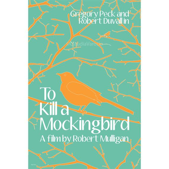 To Kill A Mockingbird Spring Version 12x18 Inches Movie
