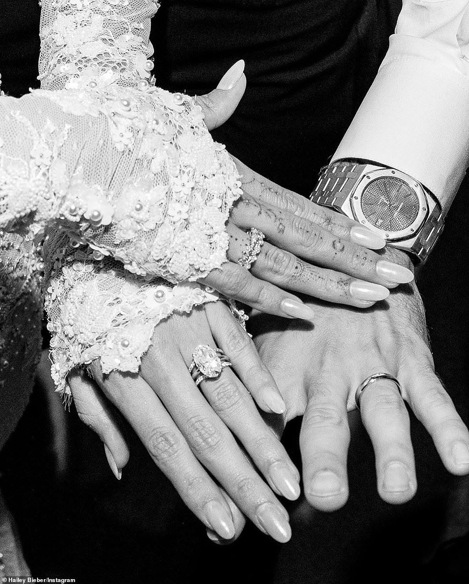 Justin And Hailey Bieber Share Official Wedding Portraits Off