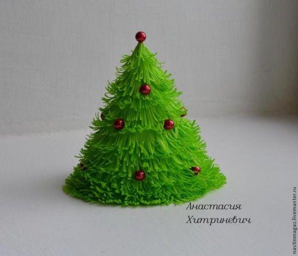 arbolitos de navidad con goma eva