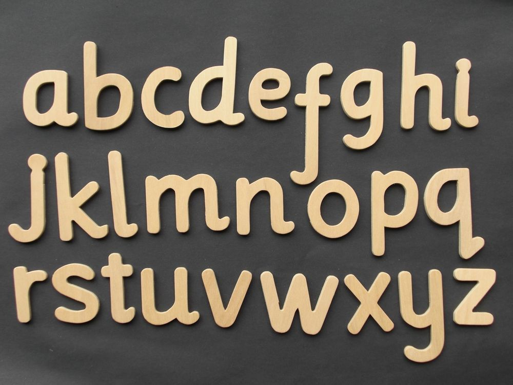 Lower Case Wooden Alphabet Large Letters Templates One Full
