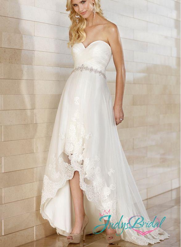 high low wedding dress beach - Google Search