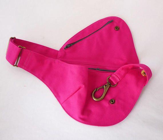 Fanny Pack Hot Pink Cotton Belt Bag Hip Bag Festival Bag