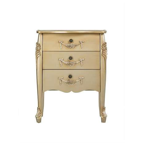 Toulouse Gold 3 Drawer Chest | Dunelm | Interior design project 1 ...