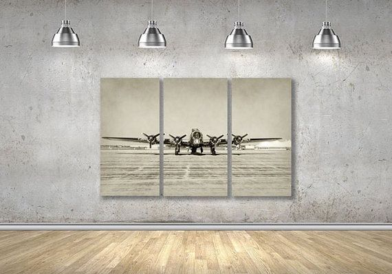 B17 Airplane Wall Decor B17 Airplane Wall Art Airplane Etsy Vintage Airplane Wall Decor Airplane Wall Art Airplane Wall Decor