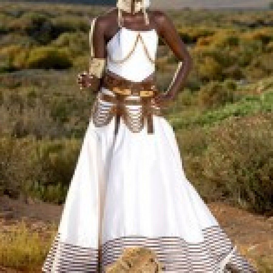 Yellow African Wedding Dresses