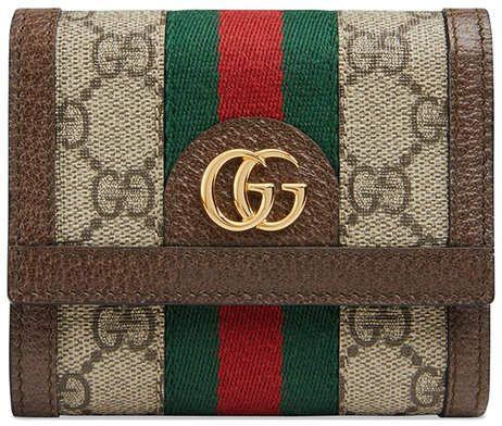 Photo of Gucci Beige Ophidia GG Wallet – Farfetch