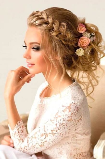 48 Trendy Wedding Hairstyles Front View Updo