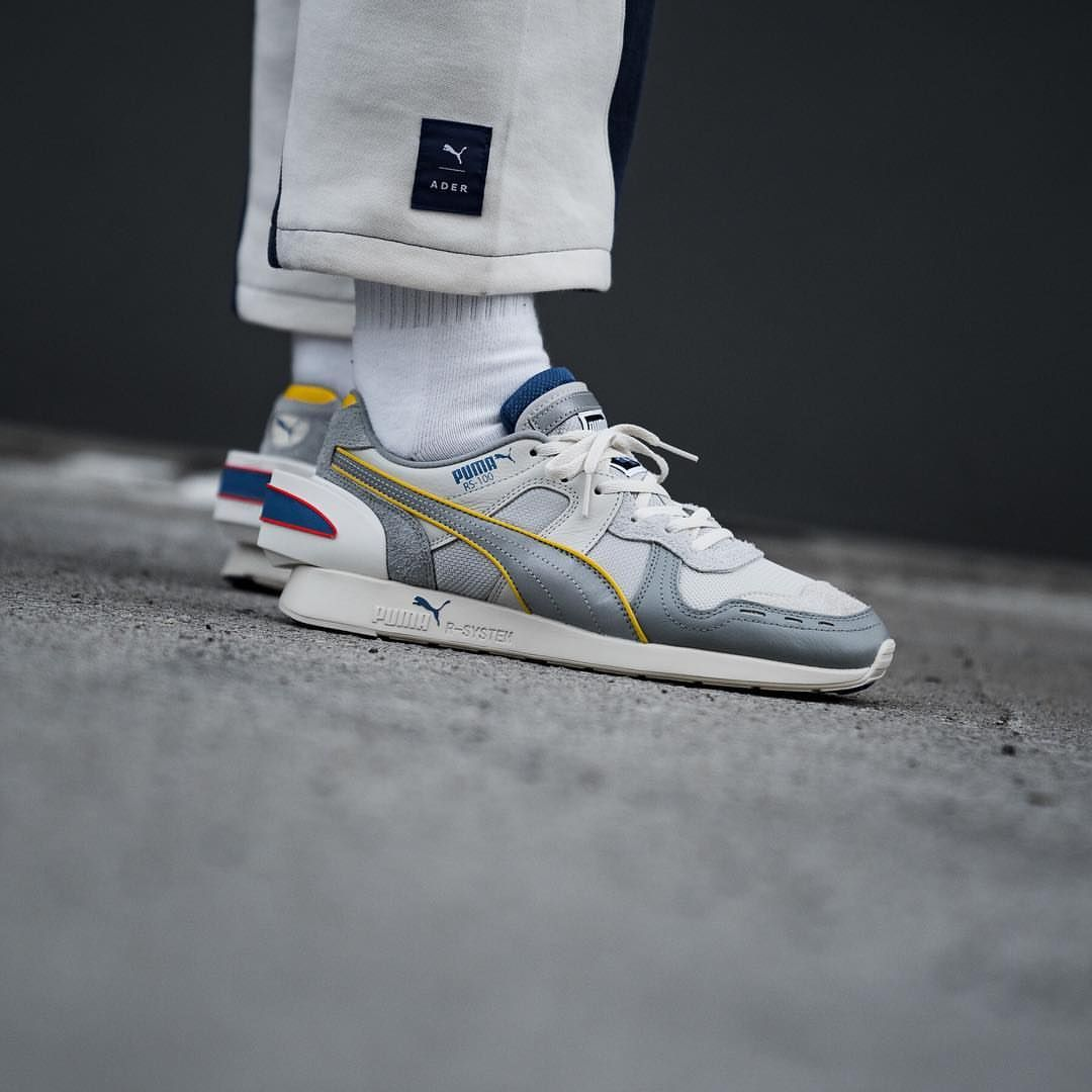 afc7be269c2074 ADER Error x Puma RS-100 Quarry   Chrome