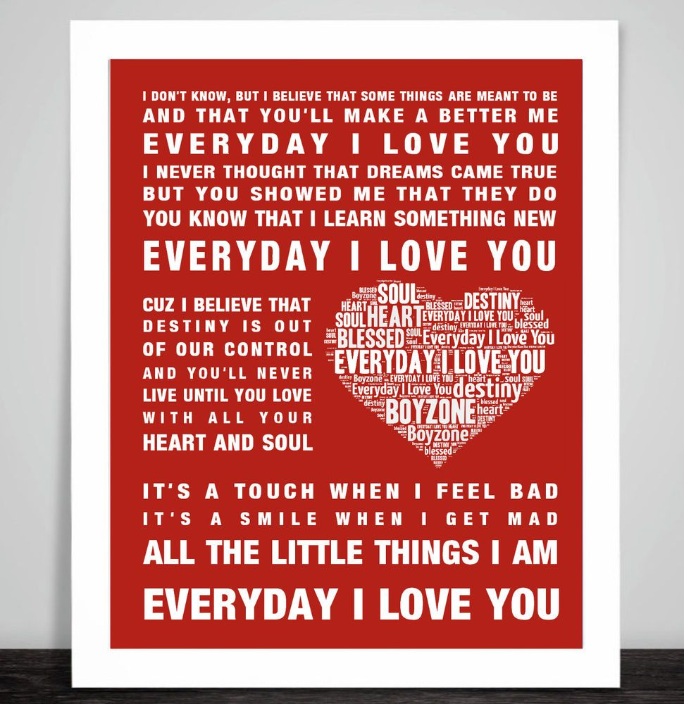 R Kelly Believe I Can Fly music song lyrics Word Art Print Heart Love Valentine