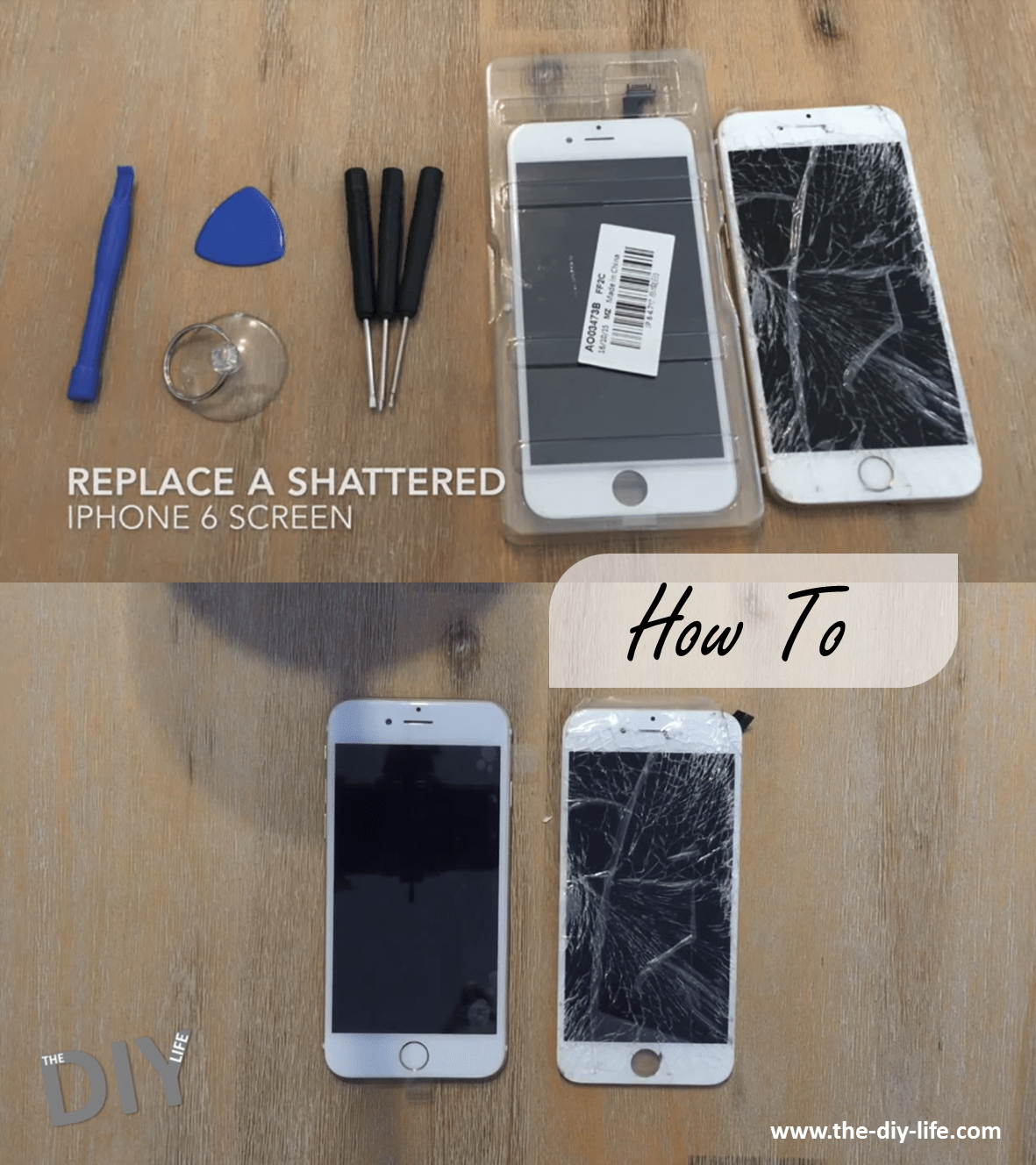 How To Replace A Shattered Screen On Iphone 6 6s The Diy Life Iphone Screen Repair Cracked Iphone Screen Iphone