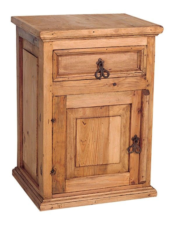Rustic Pine Nightstands With Gorgeous Designs Rustic