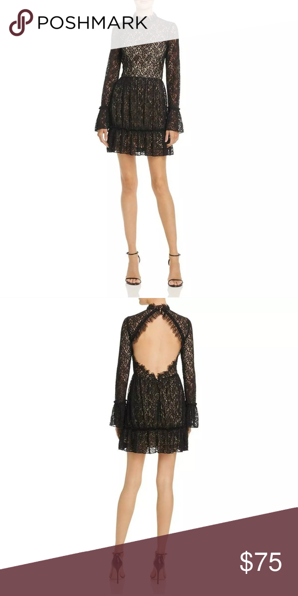 765056a133b Gorgeous SAYLOR black lace Amity dress sz L nwt Brand new black lace ...