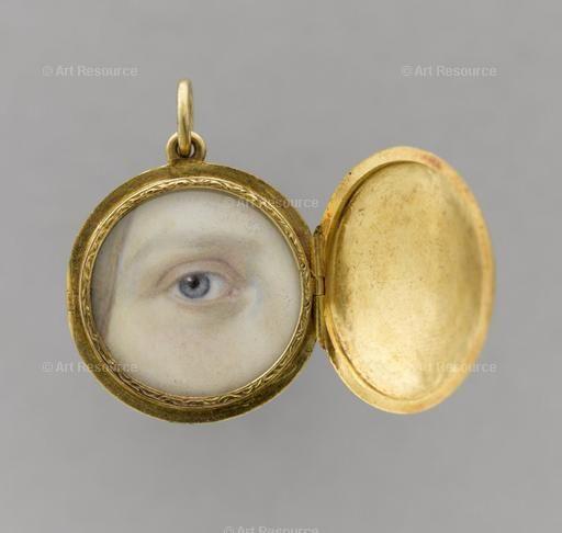 Eye of Marie-Caroline-Auguste of Bourbon-Sicily, princess of Salerne, duchess of Aumale (1822-1869). Photo: R.G. Ojeda. From:Musée Condé, Chantilly, France. Credit: Réunion des Musées Nationaux / Art Resource, NY