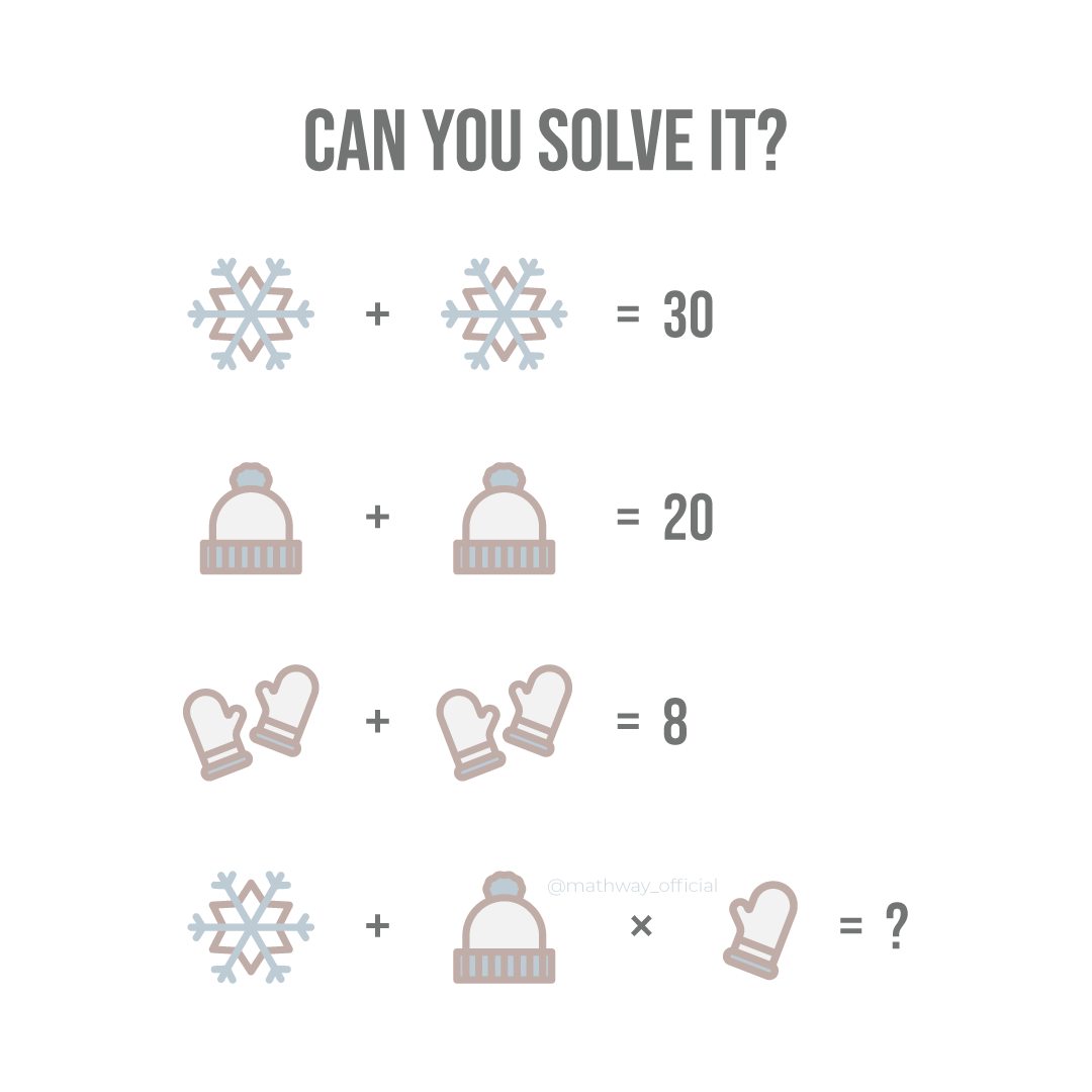 Cold weather got you down? Warm up with this #brainteaser