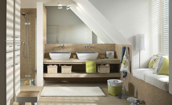 Badezimmer mit Schräge wohnideen Pinterest Badezimmer mit - badezimmer mit schräge