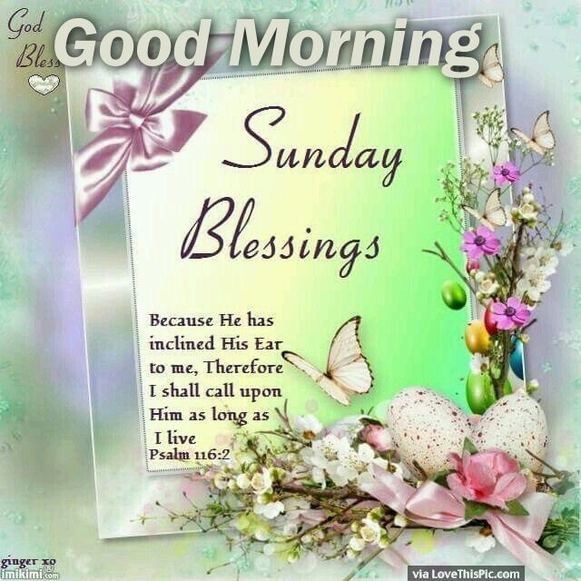 And Morning Sunday Blessings Good Prayers
