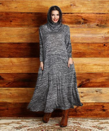 Look what I found on #zulily! Charcoal Melange Convertible Maxi Dress - Plus #zulilyfinds