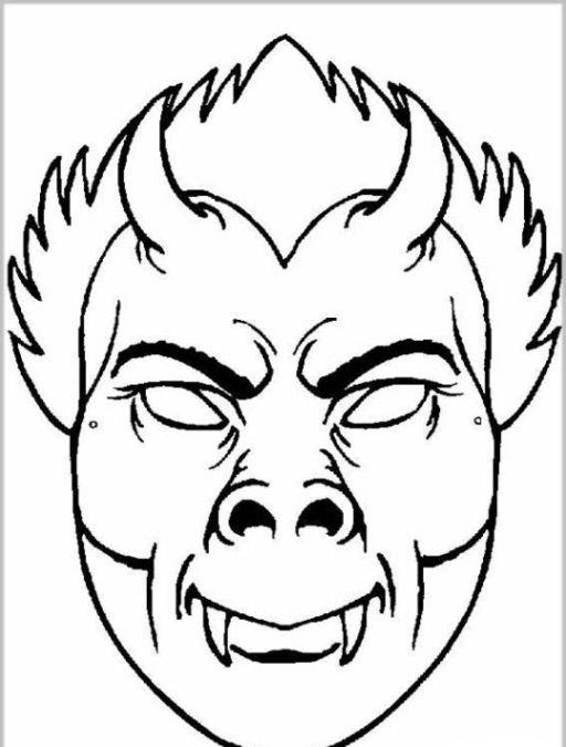 Malvorlagen Halloween Masken