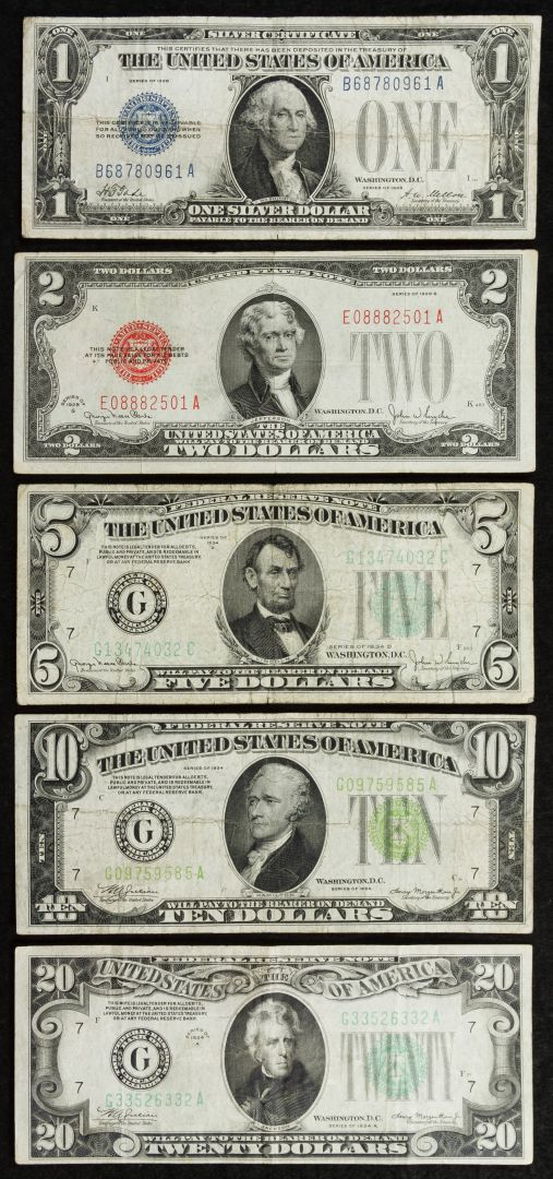 Lot 3 Us Currency Assortment 3800 Face Value Including 1928 1