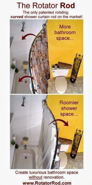 Spruce Up Your Bathroom Rotator Rod Shower Rod With Springtime