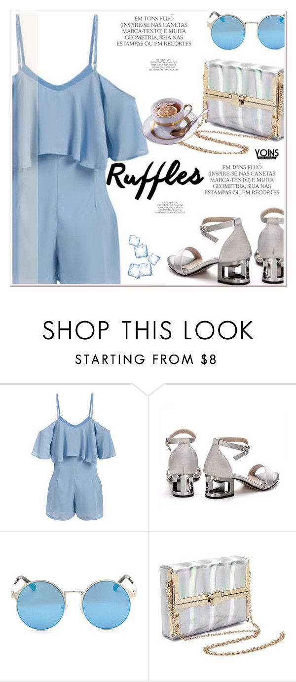 """""""All Ruffled Up 5"""" by paculi ❤ liked on Polyvore featuring Magdalena, ruffles, yoins, yoinscollection and loveyoinsin"""