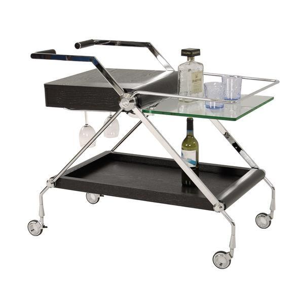 Aven Bar Cart Bar Cart Cart Wine Glass Rack