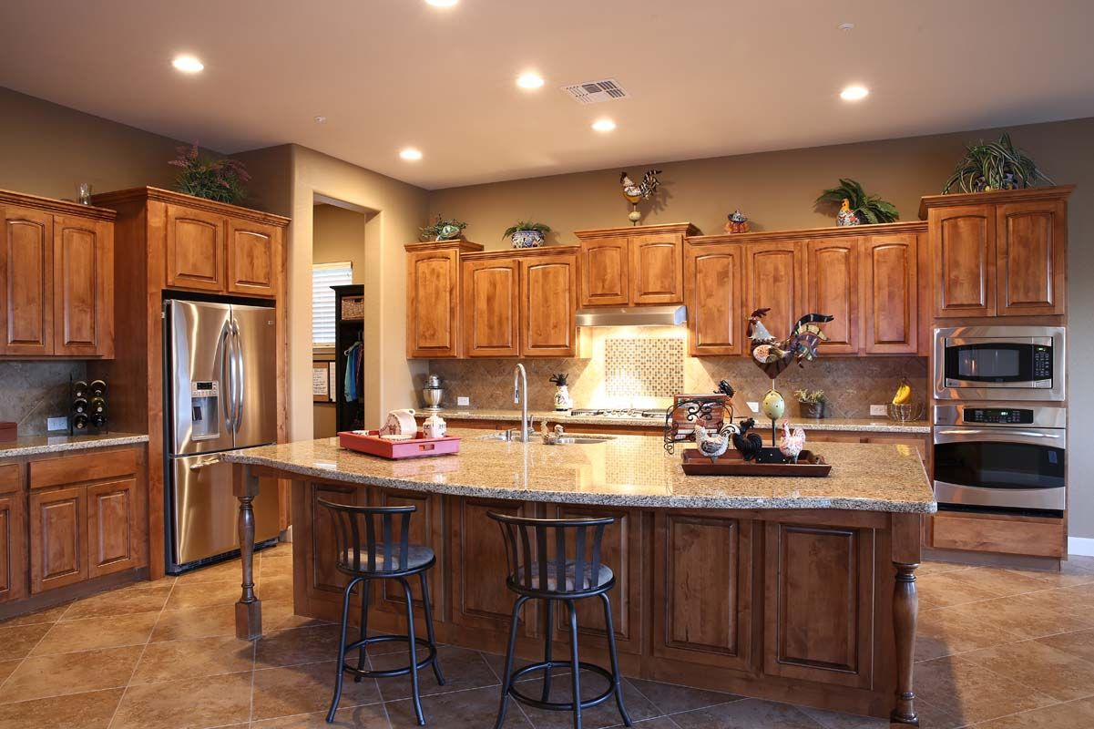 Open Kitchen Designs With Island: Open Style Kitchens To Living Rooms