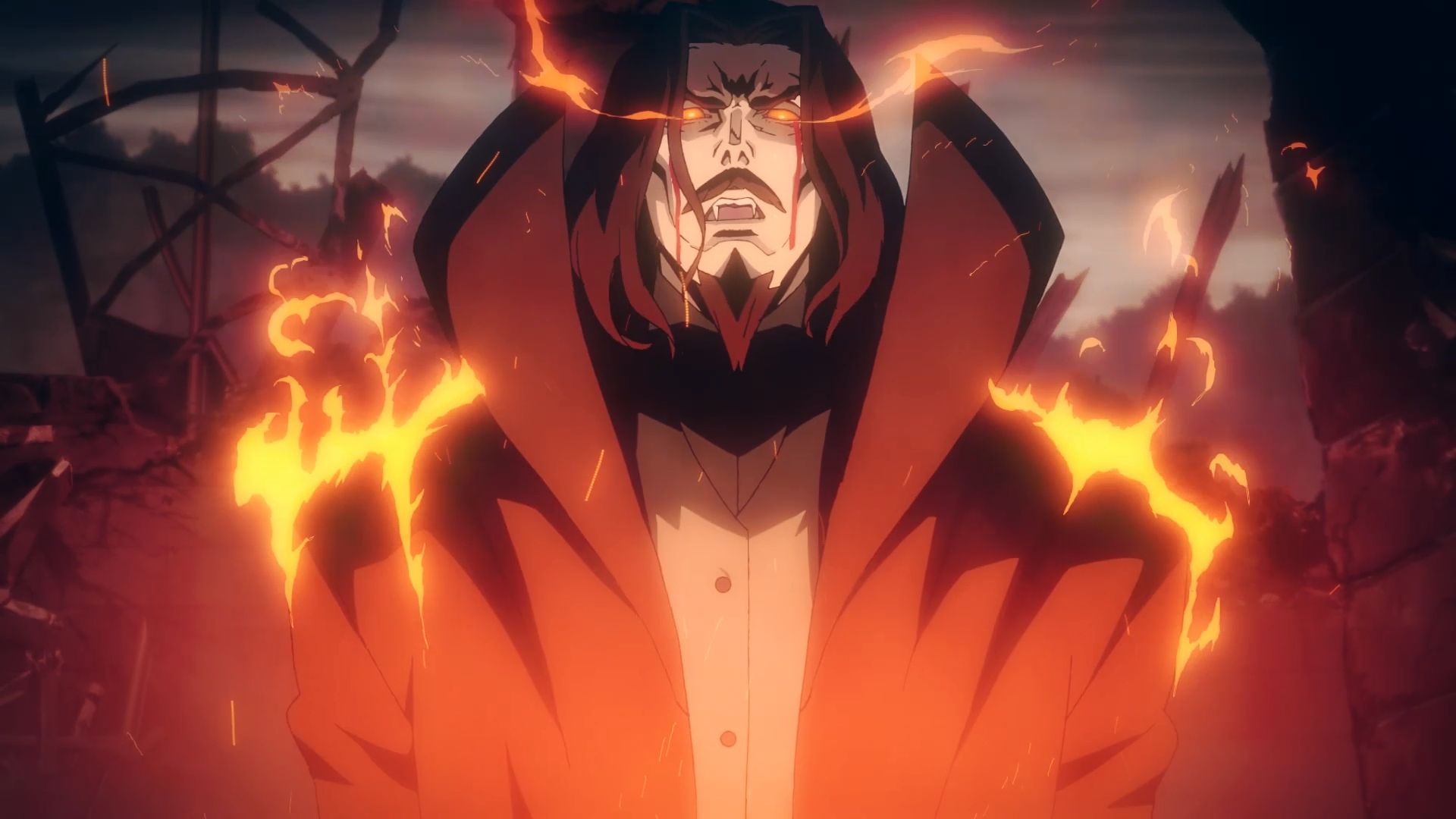 Dracula Castlevania Netflix Gothic Anime Creepy Drawings Anime