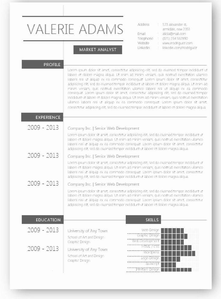 25 Elegant Resume Template Free in 2020 Microsoft word
