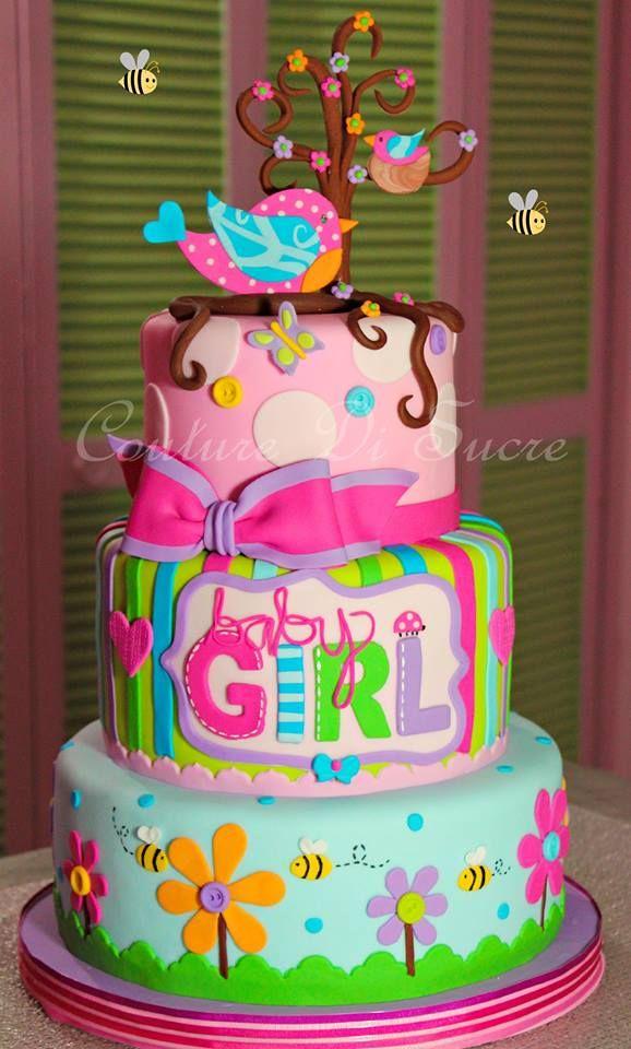 Pasteles De Baby Shower · Pastel De Cumpleaños Para Niña.