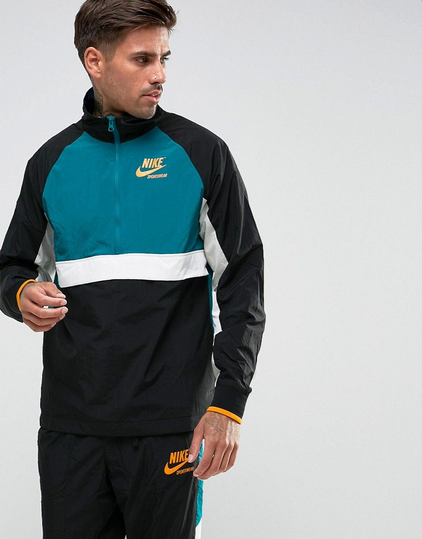 dcbf47ae3d5e1 Get this Nike's sport jacket now! Click for more details. Worldwide  shipping. Nike Archive Half Zip Track Jacket In Black 921743-010 - Black: Track  jacket ...