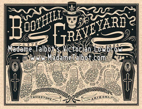 Tombstone Boothill Graveyard Old Wild West Burial Funeral