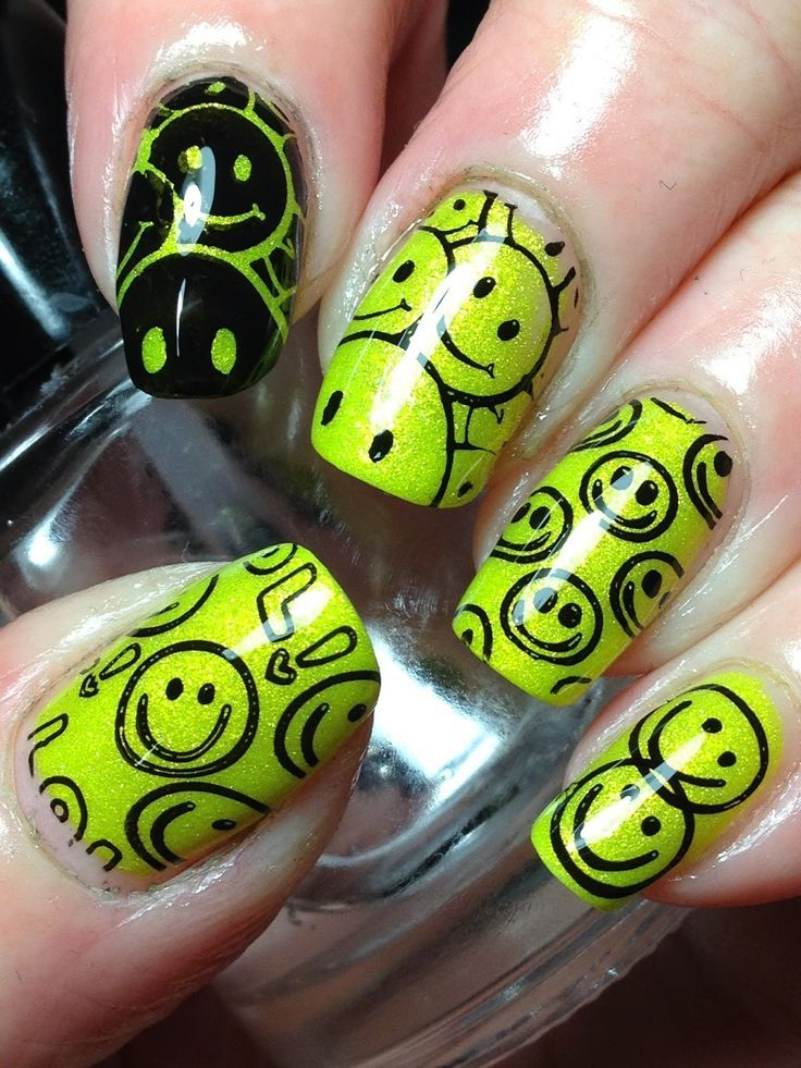 Canadian Nail Fanatic: Put On a Happy Face! | Uñas =D | Pinterest ...