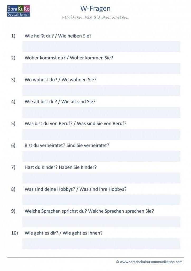 Kennenlernen sätze