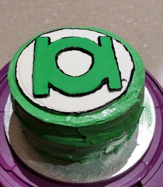 Green lantern ring cake