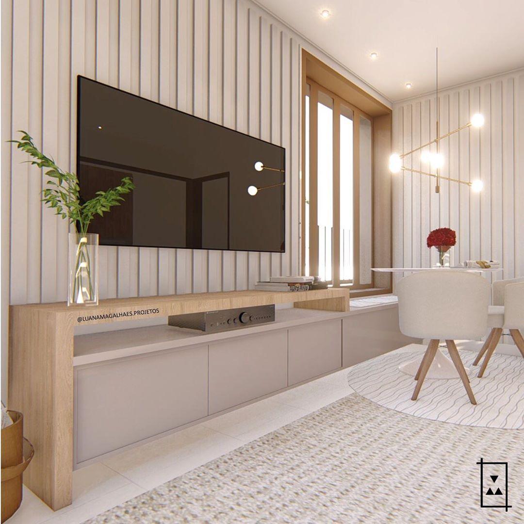 """Photo of ARQUITETA on line & presencial on Instagram: """"Essa sala me da uma PAZ! Para vocês também?? Projeto especial para um casal de amigos! Uma sala integrada com a cozinha para uma família…"""""""