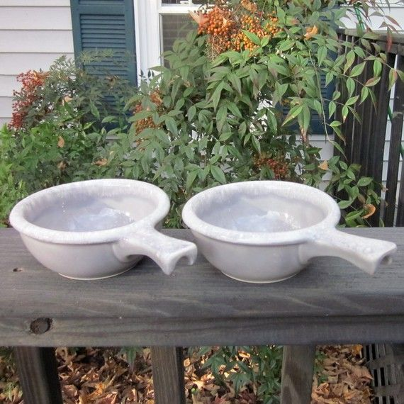 Hey, I found this really awesome Etsy listing at https://www.etsy.com/listing/60342974/vintage-hull-pottery-soup-bowls-gray-and