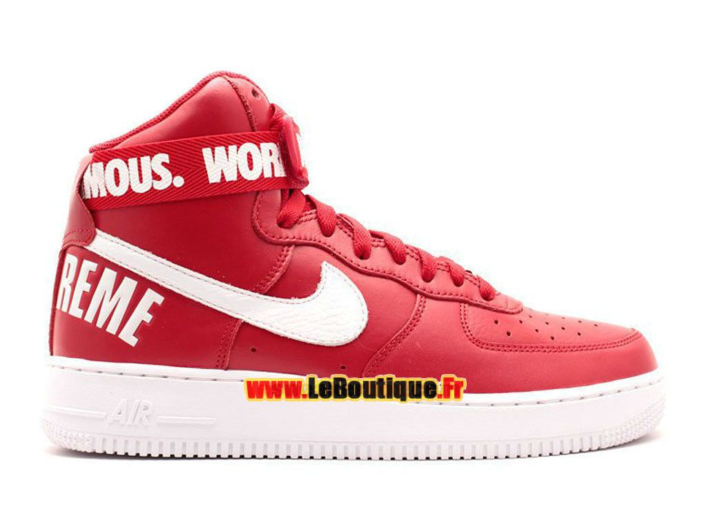 énorme réduction f9109 b6c6b Nike X Supreme Air Force 1 High GS - Chaussure Nike Montante ...