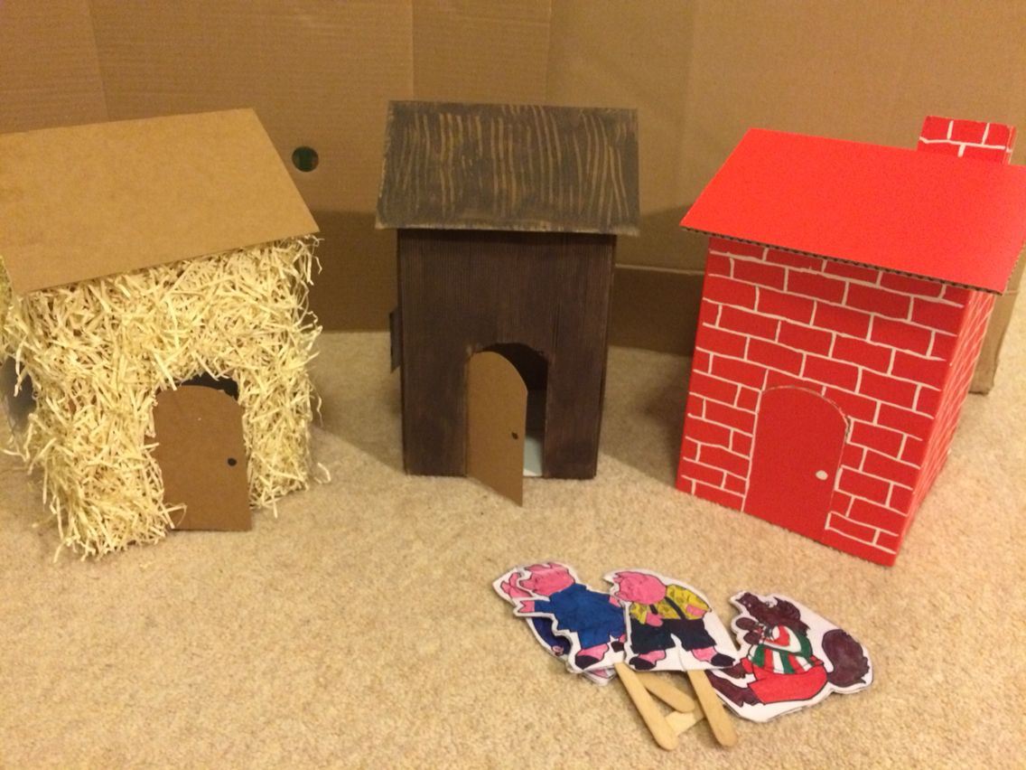 the three little pigs houses