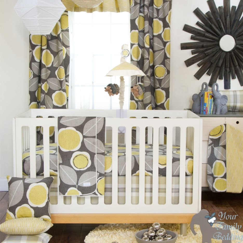 Yellow and gray nursery curtains - Eclectic Gray And Yellow Family Rooms Google Search