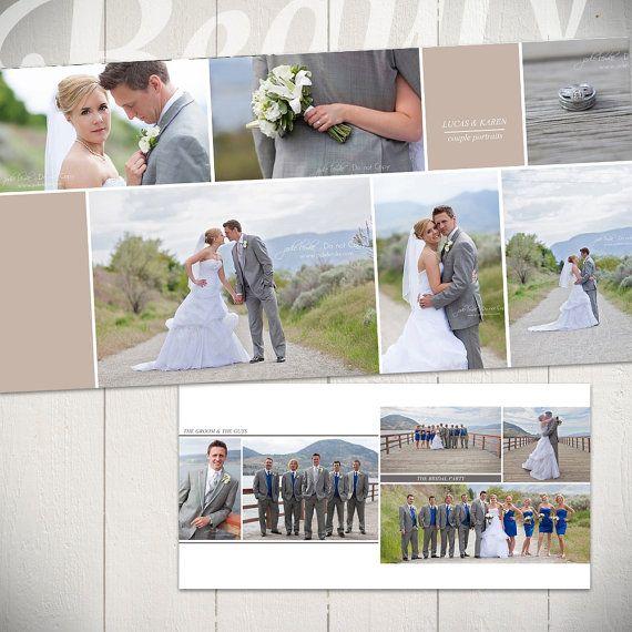 Wedding Album Template Forever 10x10 Wedding Book Photoshop Etsy Wedding Album Templates Wedding Album Wedding Book
