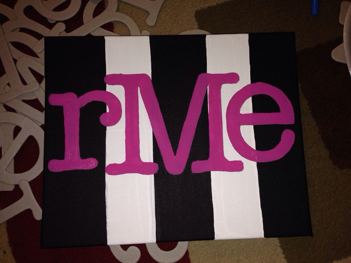 Initial+Canvas+painting+by+itsybitsycloset+on+Etsy,+$15.99