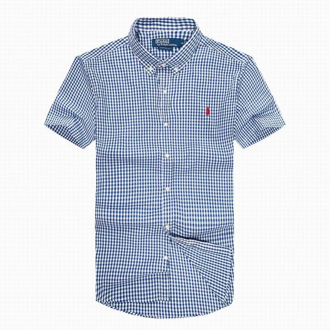 POLO RALPH LAUREN MEN SHORT SLEEVED PREPPY PLAID GINGHAM SMALL PONY WORK  SHIRTS BUTTON DOWN POINT