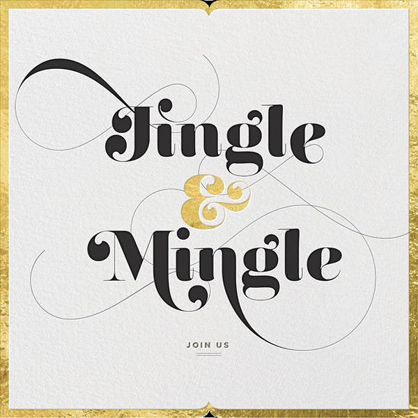 Jingle & Mingle - Gold - Paperless Post
