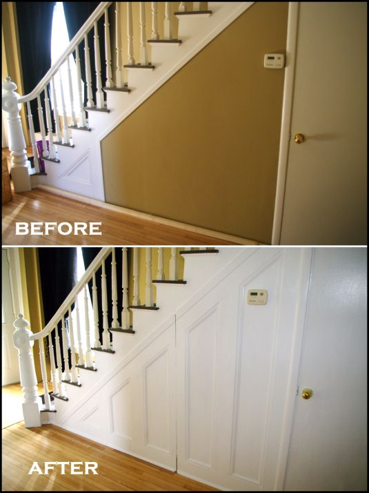 Under Stair Wainscoting Storage Idea In 2019 Wainscoting